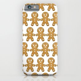 Gingerbread Cookies Pattern iPhone Case