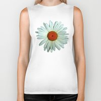 daisies Biker Tanks featuring Daisies by BruceLeeVesely