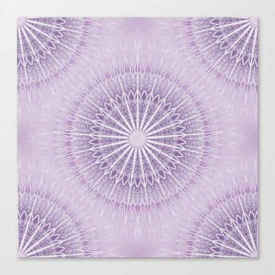Lavender Geometric Mandala Canvas Print