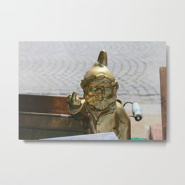 Gnome Doesn't Give... Metal Print