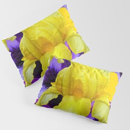 PURPLE PANSIES & YELLOW IRIS MONTAGE Pillow Sham