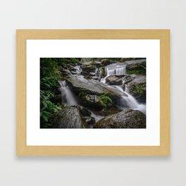 Bhagsu Nag Waterfalls near Dharamshala Framed Art Print