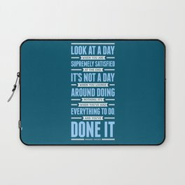 Lab No. 4 Look At A Day When Margaret Thatcher Inspirational Quote Laptop Sleeve