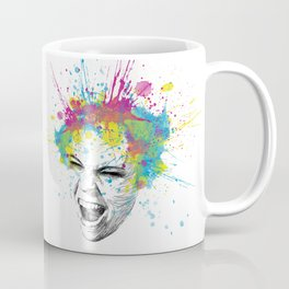 Crazy Colorful Scream Coffee Mug