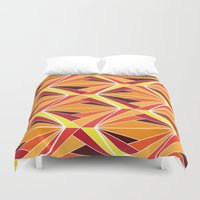mosaic Duvet Covers featuring mosaic by kartalpaf