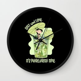 Margarita Time Cocktail Tequila Lover Wall Clock