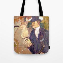 "Henri de Toulouse-Lautrec ""The Englishman (William Tom Warrener, 1861–1934)"" Tote Bag"