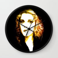 stevie nicks Wall Clocks featuring Stevie Nicks - Dreams - Pop Art by William Cuccio aka WCSmack