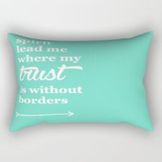 Spirit Lead Me Where My Trust Is Without Borders Oceans Arrow Rectangular Pillow