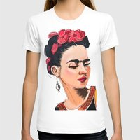 frida T-shirts featuring Frida by Jaleesa McLean