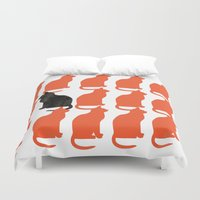 humor Duvet Covers featuring CATTERN SERIES 2 by Catspaws