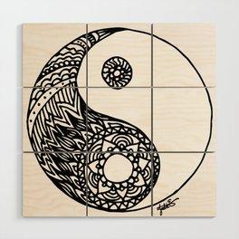 Tangled Yin Yang Wood Wall Art