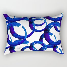 Enso Of Zen No. 21 by Kathy Morton Stanion Rectangular Pillow