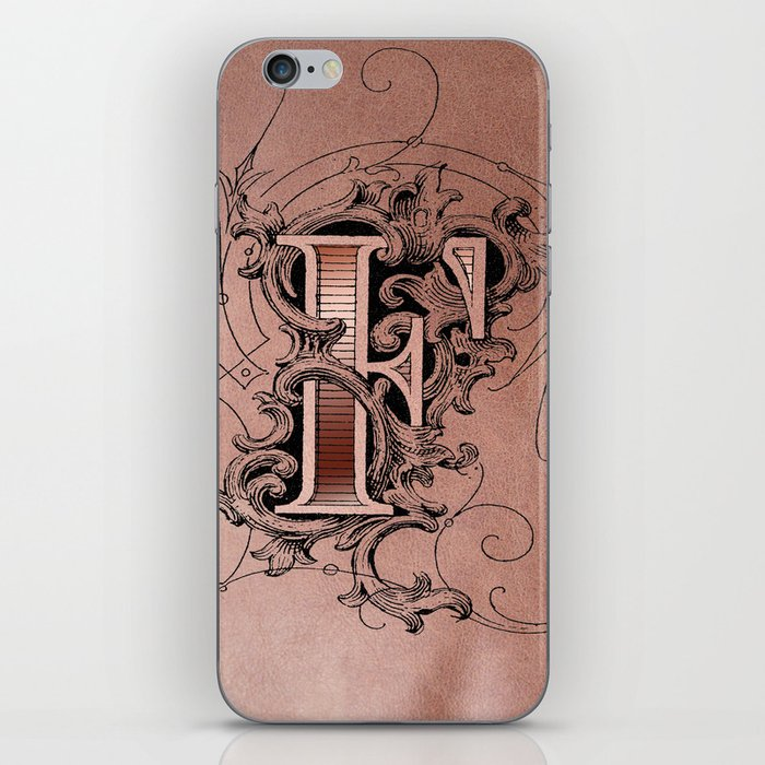 monogram f iPhone Skin