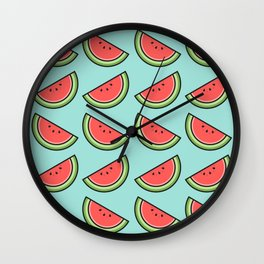 Watermelon Pattern Wall Clock