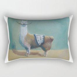 Dali Llama Funny Mustache Melted Clock Salvador Dadaism Rectangular Pillow