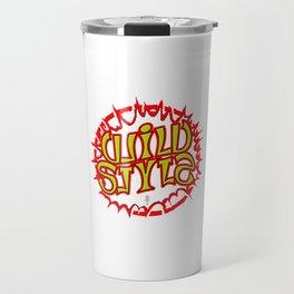 """""""WILD STYLE"""" Mirror image ambigram Travel Mug"""