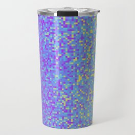 Purple Lilac Yellow Pixilated Gradient Travel Mug
