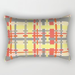 woven design orange yellow and gray Rectangular Pillow