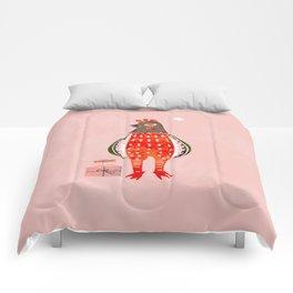 Christmas Chicken - illustration Comforters