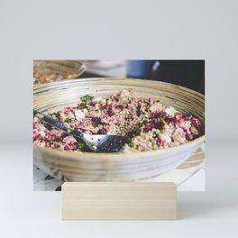 Healthy vegan salad Mini Art Print