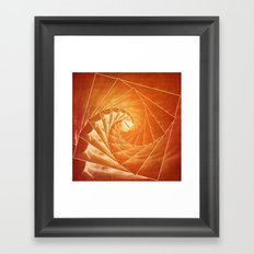 The Burning Eye Sees Spiral Framed Art Print