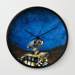 Wall-E Meets the Stars Wall Clock