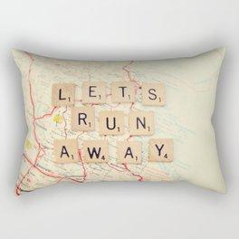 let's run away Rectangular Pillow