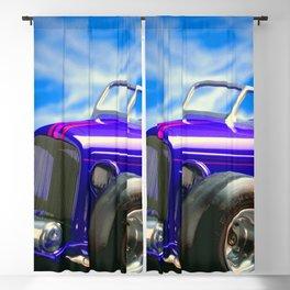 Purple-Blue Classic Hot Rod Blackout Curtain