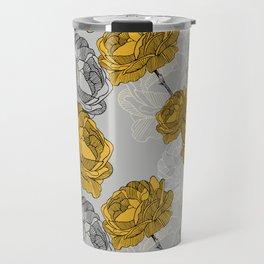 Linear flower of roses Travel Mug