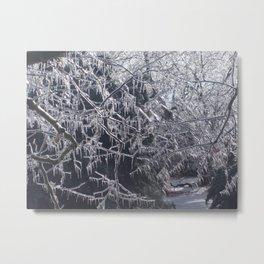 Hanging Ice Points Metal Print
