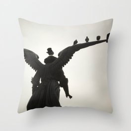 Angel in the Park Throw Pillow