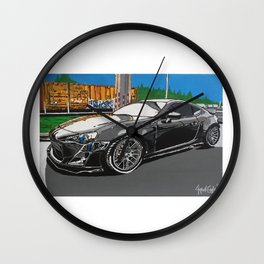 Scion FR-S plan A painting Wall Clock