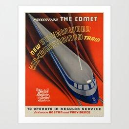 Vintage poster - The Comet Art Print