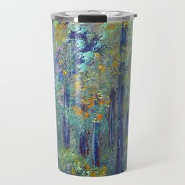 Impressionism Landscape Tree Forest, Rustic Art Home Decor Travel Mug