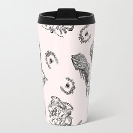 Rococo Toile in Pink Royal Icing Travel Mug