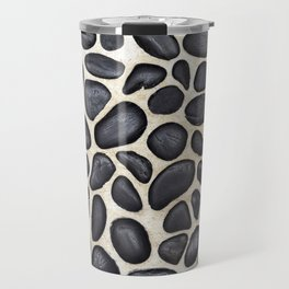 Black Pebble Floor Set in Cement Travel Mug
