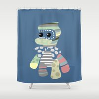 doll Shower Curtains featuring doll by vidikay