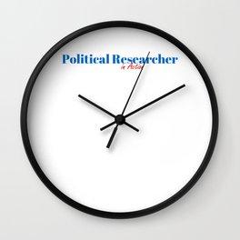 Happy Political Researcher Wall Clock
