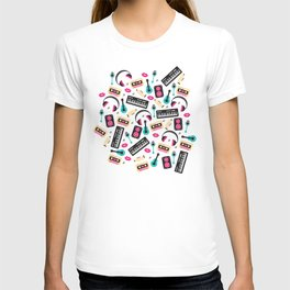 Jazz music instruments and sounds pattern T-shirt