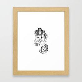 P1R4T3 C4T (Pirate Cat) Framed Art Print