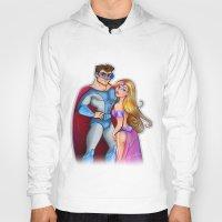 super hero Hoodies featuring Super Hero  by Alex Pedreira
