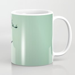 Bird Silhouette - Light Green Coffee Mug
