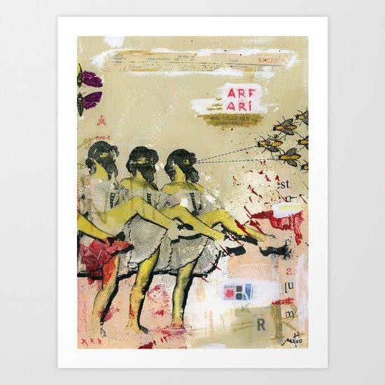 Killer bees Art Print