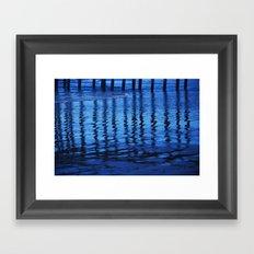 Blue Waves Framed Art Print