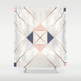 Copper & Marble & Pastel 02 Shower Curtain
