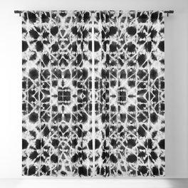 Shibori black stripes crosses Blackout Curtain