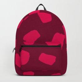 Raspberry Brushstrokes Backpack