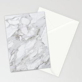 Gray and White Marble Stationery Cards