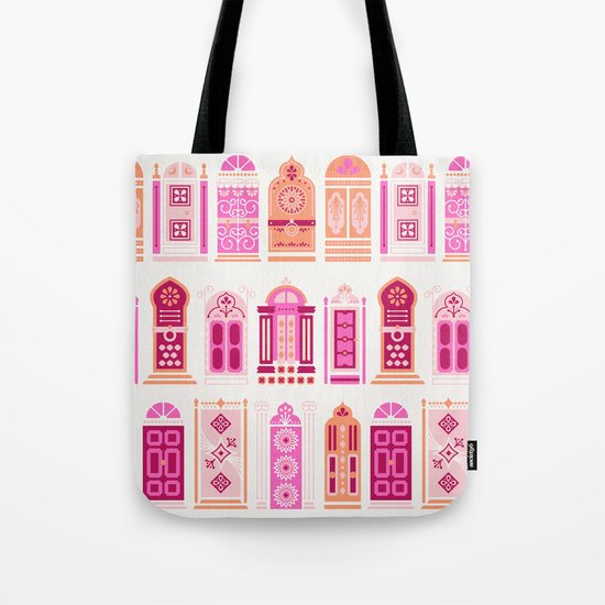 Moroccan Doors – Peach Palette Tote Bag